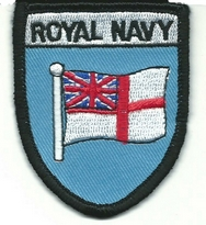 Royal Navy Ensign Embroidered Patch