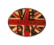VE Day Anniversary Oval Pin