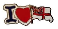 I Love Royal Navy Pin
