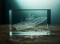 HMS Ark Royal Laser Etched Crystal