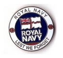 Royal Navy Lest We Forget Pin