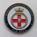 Officially Licensed HMS Prince of Wales Crest Coin